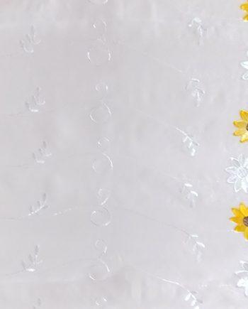 Perdea  ivoar cu  floarea soarelui