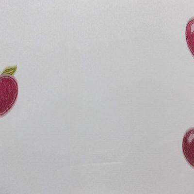 Perdea de bucatarie inisor ivoar cu mere